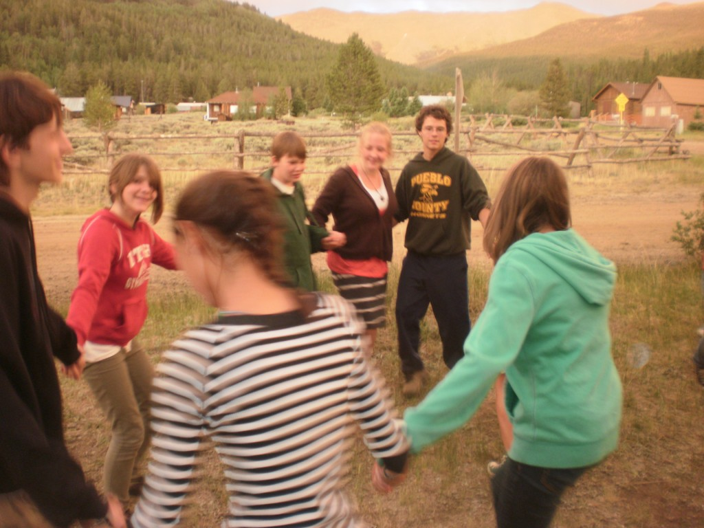 Campers Contra Dancing in Nature